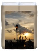 Mallory Square Key West Duvet Cover