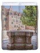 Malmohus Castle Courtyard Duvet Cover
