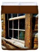 Maltese Cross Cabin Window Duvet Cover