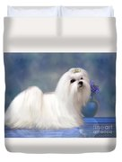 Maltese Dog Duvet Cover by Corey Ford