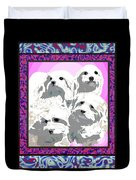 Maltese Group Duvet Cover