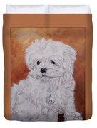 Maltese Puppy Duvet Cover