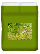 Malva And Chamomile In The Meadow Duvet Cover