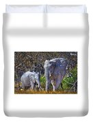 Mama And Baby Elephant Duvet Cover