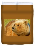 Mama Bear Close Up Duvet Cover