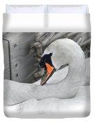 Mama Swan At Abbotsbury - Desaturated Duvet Cover