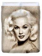 Mamie Van Doren, Vintage Actress And Pinup Duvet Cover
