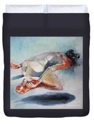 Man And Fish 5 Duvet Cover