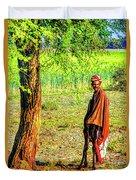 Man In Shade Duvet Cover