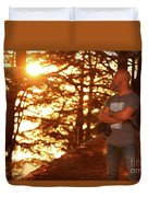 Man In The Forest Duvet Cover