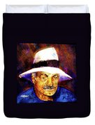Man In The Panama Hat Duvet Cover