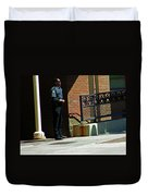 Man In Uniform Duvet Cover