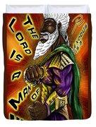 Man Of War Poster Design Duvet Cover