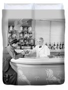 Man Ordering Another Drink, C. 1940s Duvet Cover