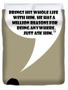 Man Walks Into A Room - Mad Men Poster Don Draper Quote Duvet Cover