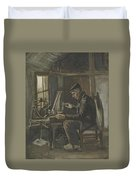 Man Winding Yarn Nuenen, May - June 1884 Vincent Van Gogh 1853  1890 Duvet Cover
