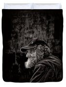 Man With A Beard Duvet Cover by Bob Orsillo