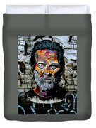 Man With Colourful Face Duvet Cover