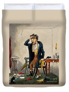 Man With Excruciating Headache, 1835 Duvet Cover