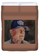 Man With Ford Cap Duvet Cover
