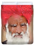Man With Red Headwrap Duvet Cover