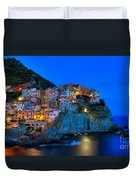 Manarola - Cinque Terre In Widescape Duvet Cover