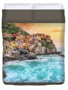 Manarola - Cinque Terre National Park - Liguria - Italy Duvet Cover