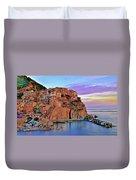 Manarola Rainbow Of Colors Duvet Cover
