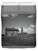 Manassas Battlefield Farmhouse 2 Bw Duvet Cover