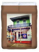Manass's Grocery From Front Duvet Cover