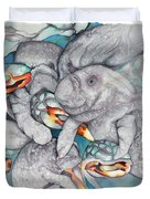 Manatee Party Duvet Cover