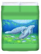 Manatee Spring Duvet Cover by Tim McCarthy