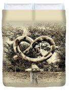 Manayunks Pretzel Park Duvet Cover