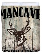 Mancave Deer Rack Duvet Cover