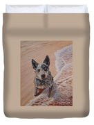 Mancha At The Beach Duvet Cover