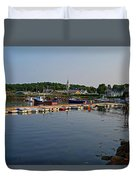 Manchester Harbor Manchester By The Sea Ma Duvet Cover