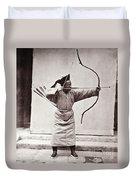 Manchu Archer, 1874 Duvet Cover