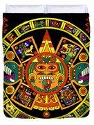 Mandala Azteca Duvet Cover by Roberto Valdes Sanchez