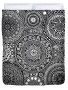 Mandala Bouquet Duvet Cover by Matthew Ridgway