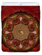 Mandala Flames Sp Duvet Cover by Bedros Awak