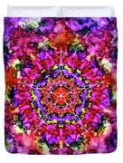 Mandala Floral Red Purple Duvet Cover