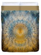 Mandala From The Garden 2 - Flower Feather Shield Duvet Cover