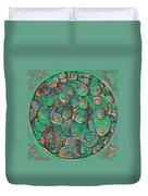 Mandala In Green Duvet Cover