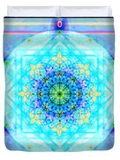 Mandala Of Womans Spiritual Genesis Duvet Cover