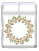 Mandala/photoart Orange Flowers-1 Duvet Cover