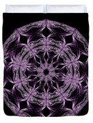 Mandala Purple And Black Duvet Cover