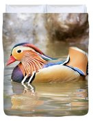 Mandarin Duck Swimming Duvet Cover