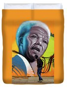Mandela Watching Duvet Cover