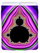 Mandelbrot Set Bold And Trippy Duvet Cover
