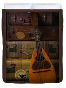 Mandolin And Suitcases Duvet Cover